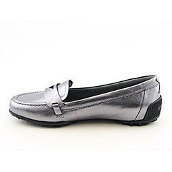 Rockport Women's Jackie Penny Loafer Silver Casual Shoes