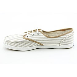 Keds Women's Skipper Canvas Stripe Beige Casual Shoes