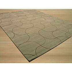 Hand Tufted 'Santana' Green Wool Rug (8'9 x 11'9)