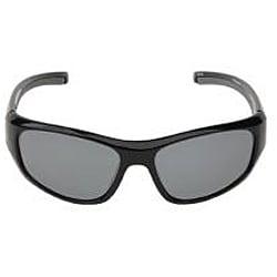 Body Glove Men's 'Vapor 12' Black/Smoke Polarized Mirrored Sunglasses