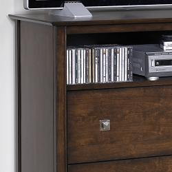 Nurmes Warm Cherry Transitional 2-drawer TV Media Chest