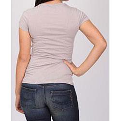 Norma Jeane Junior's Grey Crinkle T-shirt