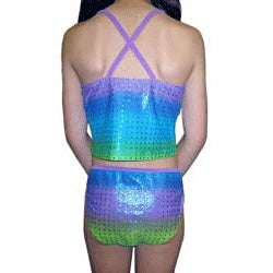 Lisabell Girls' 'Rainbow Ombre' Tankini Swimsuit