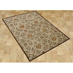 Alliyah Handmade Brown Sugar New Zealand Blend Wool Rug (8' x 10')