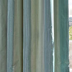 Signature Stripe Zuma Faux Silk Taffeta Curtain Panel