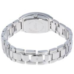 Monument Women's Tonneau Case Silvertone Bracelet Watch