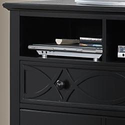Piston Black Modern Cottage 3-drawer TV Chest