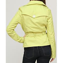 Jou Jou Juniors' Lime Sateen Belted Jacket