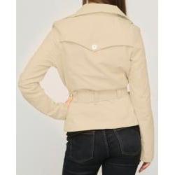 Jou Jou Juniors' Khaki Sateen Belted Jacket