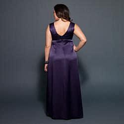 Kiyonna Women's Plus 'Evangaline' Satin Gown