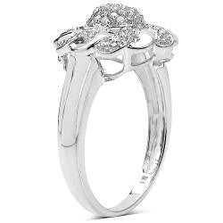 14k Gold over Sterling Silver 1/3ct TDW Diamond Cocktail Ring (I-J, I3)