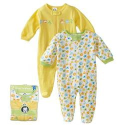 Gerber Unisex Zip Front Sleep 'n Play (Pack of 2)