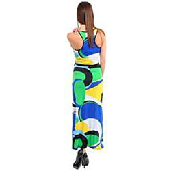 Stanzino Women's Printed Long Dress with Sash