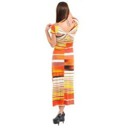Stanzino Women's Striped Twist Back Maxi Dress