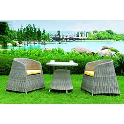 Maui Woven Rattan 3-piece Outdoor Dining Set
