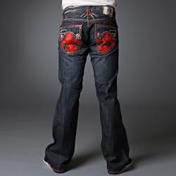 Laguna Beach Jean Co. Men's 'Hermosa Beach' Red Stitch Swarovski Crystal Embellishments Jeans (Size 31x34)
