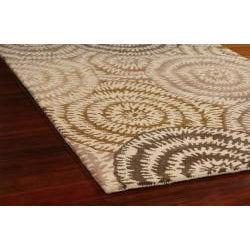 Hand Made Moda Ivory Cream Wool Rug (4' x 6')
