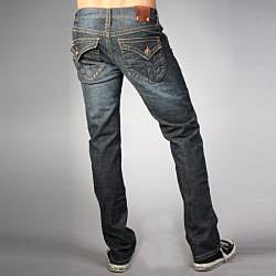 Laguna Beach Jean Co. Men's Phantom Pocket Dark Blue Slim Fit Crystal Cove Beach Denim