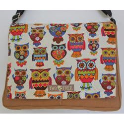 Two Tree Designs Hoot Owls Handmade Messenger Bag