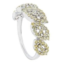 D'sire 10k White Gold 9/10ct TDW Yellow Diamond Fashion Ring (SI2)