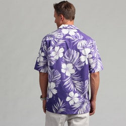 Pacific Legends Men's 'Hibiscus Passion' Aloha Shirt