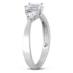 Miadora 14k Gold 3/4ct TDW Diamond 3-stone Engagement Ring (G-H, I1-I2)