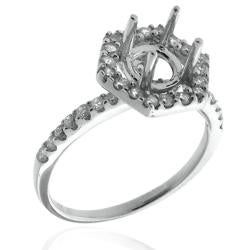 14k White Gold 3/5ct TDW Diamond Semi-mount Engagement Ring (G-H, SI1/SI2)