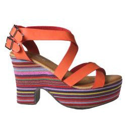 Refresh by Beston Women?s DORIS-01 Chunky Heel Platform Sandals