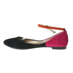 Refresh by Beston Women's Black JULIA-03 Point Toe Flats
