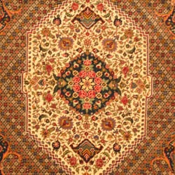 Persian Hand-knotted Tribal Bakhtiari Ivory/ Red Wool Rug (6'6 x 9'7)