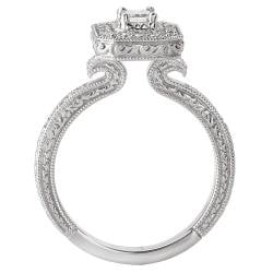 14k White Gold 5/8ct TDW Diamond Engagement Ring (G/H, SI1-SI2)
