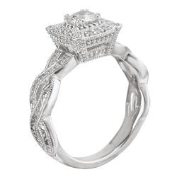 Avanti 14k White Gold 1/3ct TDW Diamond Engagement Ring (G/H, SI1-SI2)