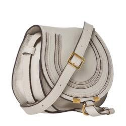Chloe 'Marcie' Mini Grey Leather Saddle Bag