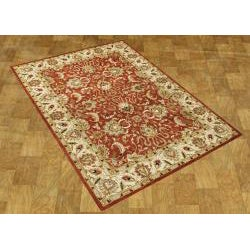 Alliyah Handmade Soft Red Red New Zealand Blend Wool Rug (8' x 10')