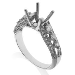 14k White Gold 3/4ct TDW Diamond Semi-mount Engagement Ring (G-H, SI1/SI2)