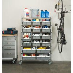Seville 7-shelf Commercial Bin Rack Storage System