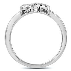 ASPCA Tender Voices Silver 1/10ct TDW Diamond Paw Ring (I-J, I2-I3)