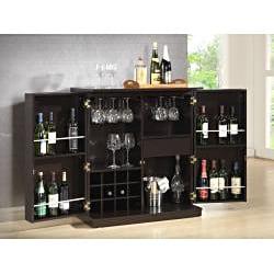 Stamford Dark Brown Modern Bar Cabinet