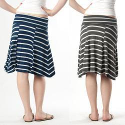 Tabeez Women's Striped Foldover Skirt