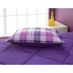 VCNY Camp Purple Plaid Comforter