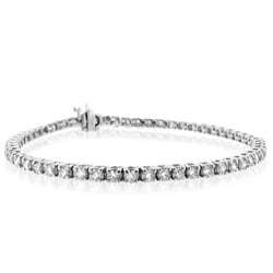 14k White Gold 2 to 15ct TDW Diamond Tennis Bracelet (G-H, SI1)