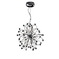 Joshua Marshal Home Collection Funky 18-light Chrome Crystal Adjustable Hanging Pendant