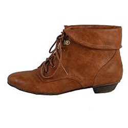Modesta by Beston Women's 'Tiko-01' Camel Ankle Booties