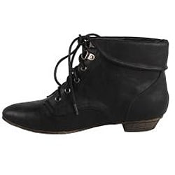 Modesta by Beston Women's 'Tiko-01' Black Ankle Booties