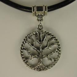 Jewelry by Dawn Tree Of Life Greek Leather Necklace