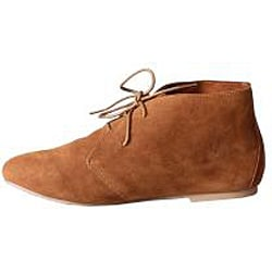 Refresh by Beston Women's 'Heidi' Camel Lace-up Booties