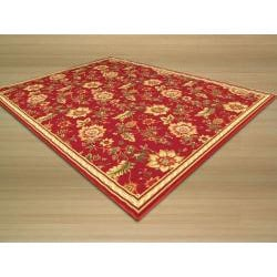 Euro Home Red/ Beige Rug (5' x 6'6)
