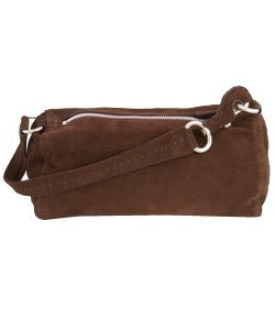 prada canvas handbag - Prada Brown Suede Handbag - 404279 - Overstock.com Shopping - Big ...