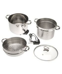 Rival 8-qt Electric Stock Pot with Pasta and Steamer Inserts