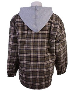 Moose Creek Men's Dakota Hooded Flannel Shirt